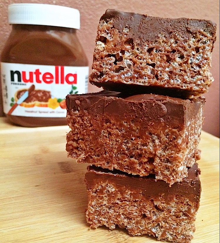Nutella Rice Krispies Treats Recipe