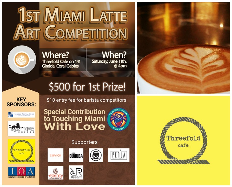 Miami Latte Art Competition at Threefold Cafe