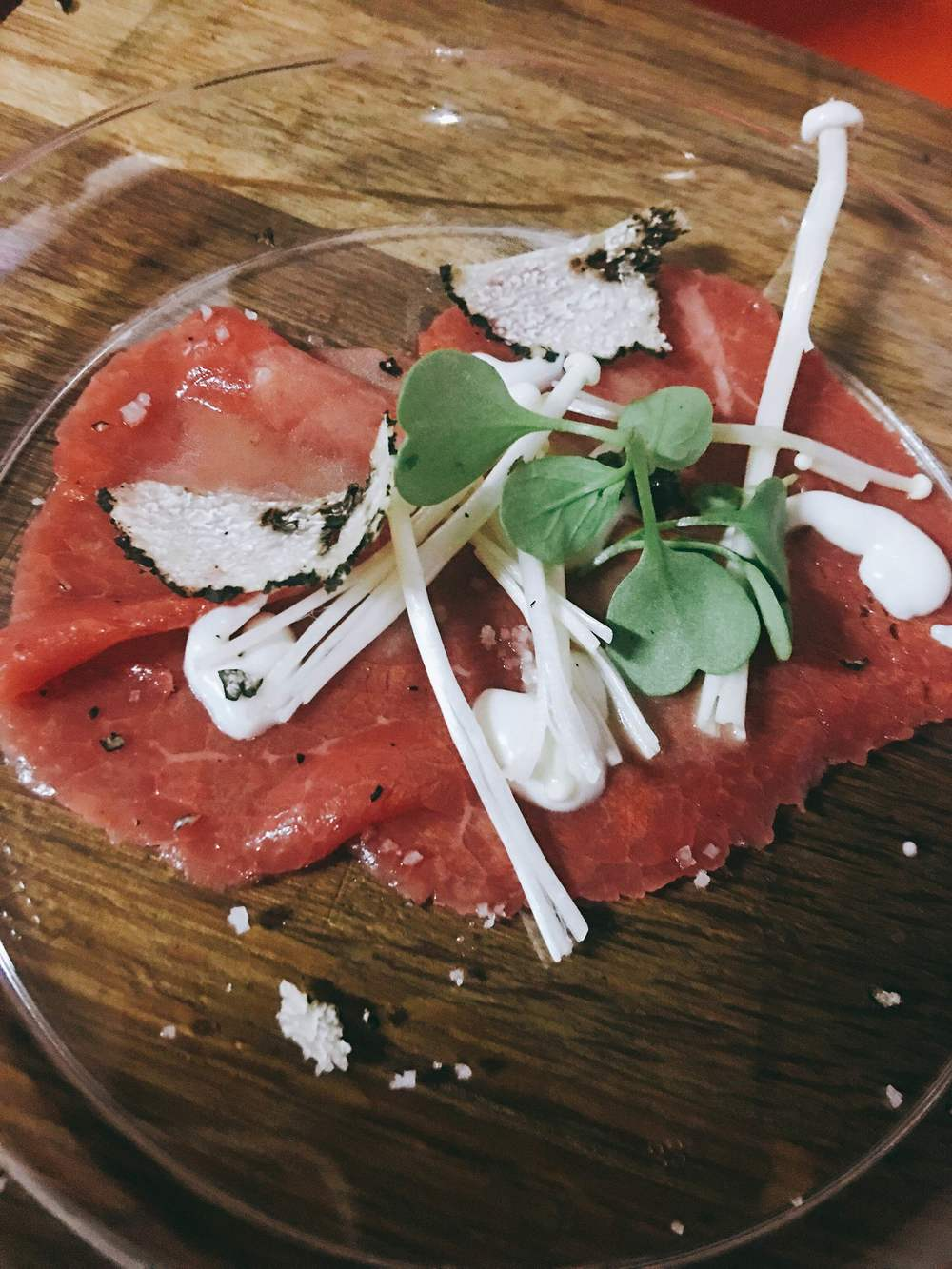 Beef Carpaccio from Bourbon Steak Miami