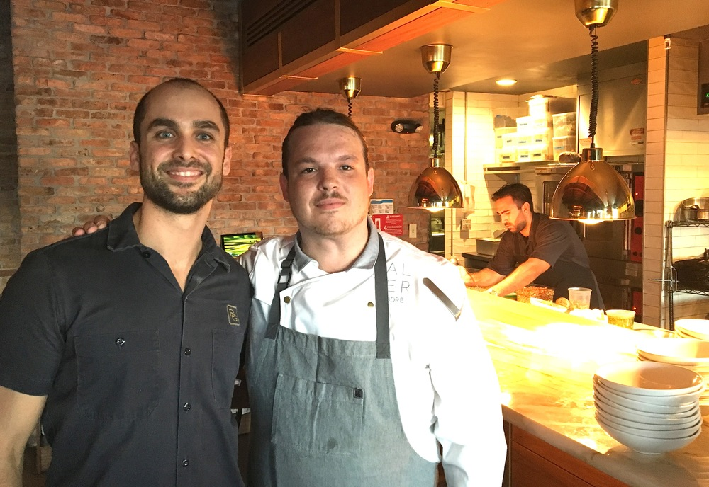 Chef Brad Kilgore Alter  & Brian Nasajon Beaker and Gray