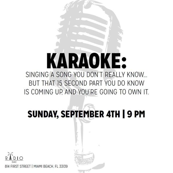 Radio Bar South Beach Karaoke