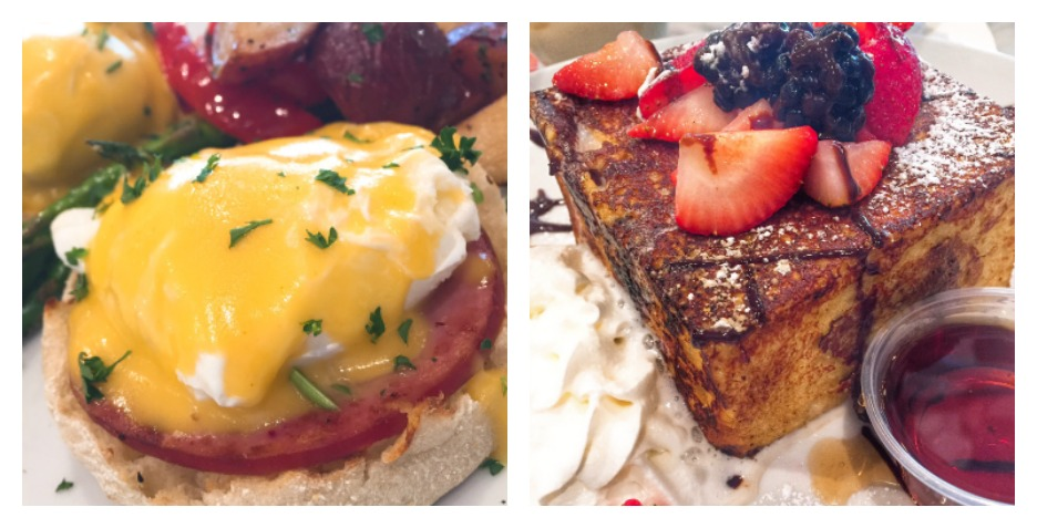 Sugar Factory French Toast and Eggs Benedict
