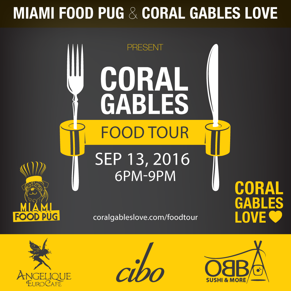 Miami Food Pug Food Tour Coral Gables