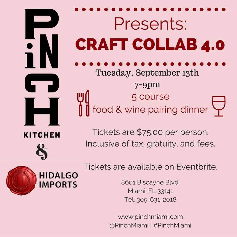 Pinch Kitchen Collab with Hidalgo Wines