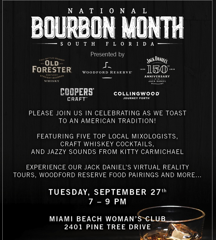 National Bourbon Month event Miami Ocean Drive