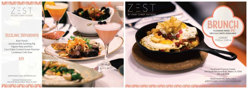Zest Miami Cindy Hutson Weekends and Brunch