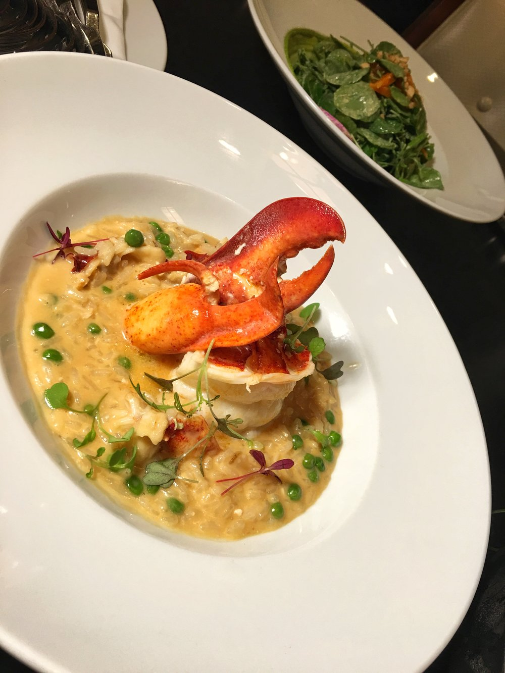 Diplomat Prime resort Lobster risotto