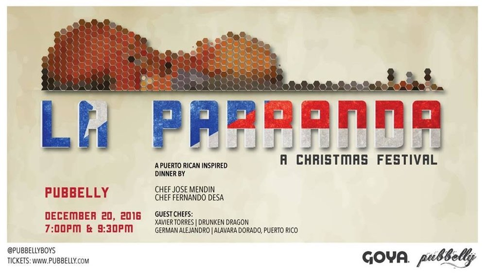 Pubbelly and Goya Foods host Christmas La Parranda
