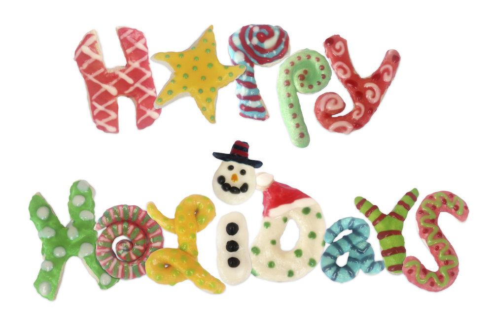 Happy Holidays Cookies
