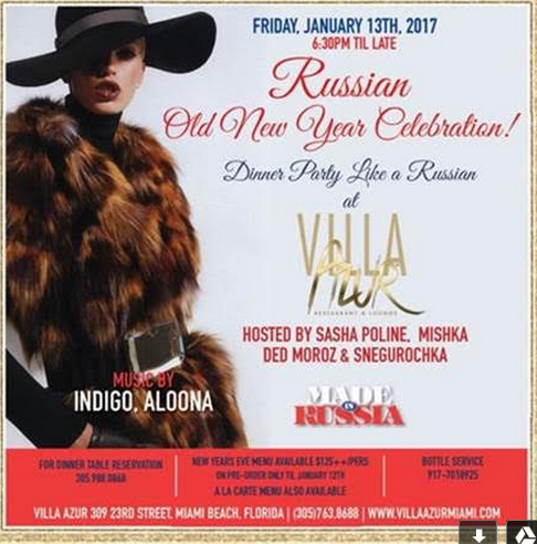Villa Azur Russian New Year Celebration