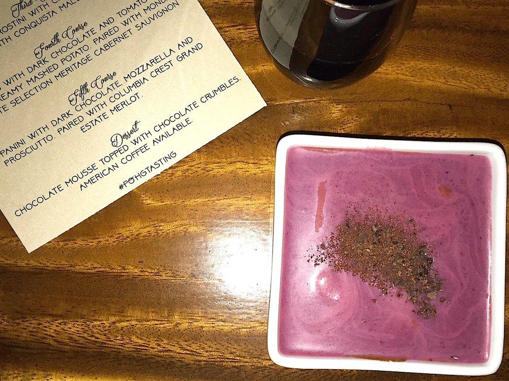 Patch of Gardens Cacao Dinner dessert