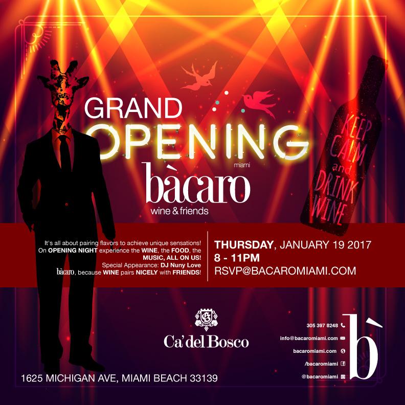 Bacara Miami Beach Grand opening