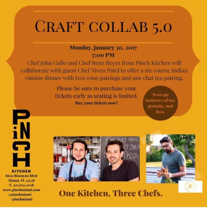 Pinch Kitchen Collab Niven Patel Ghee Miami