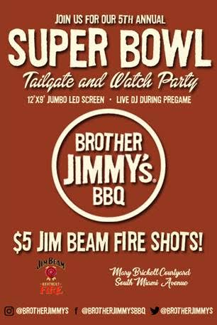 Brother Jimmy's Brickell Super Bowl Party