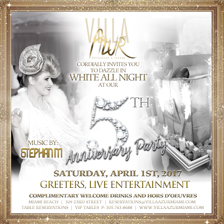 Villa Azur 5th Anniversary White Party