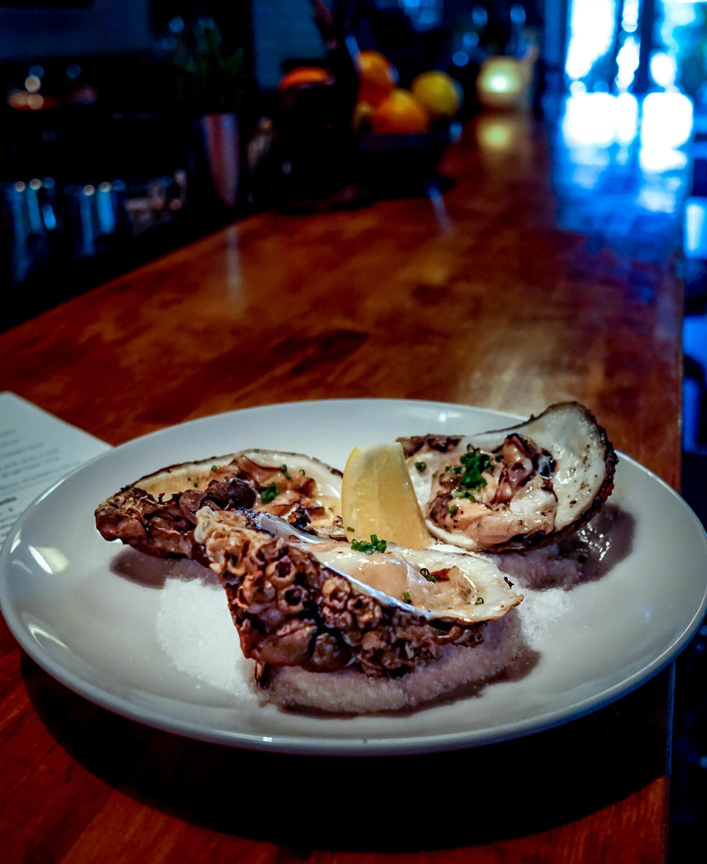 Ariete Roasted Oysters with Bone Marrow butter