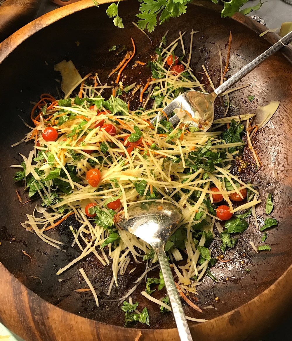 Green Papaya Salad from MKT by bazbaz