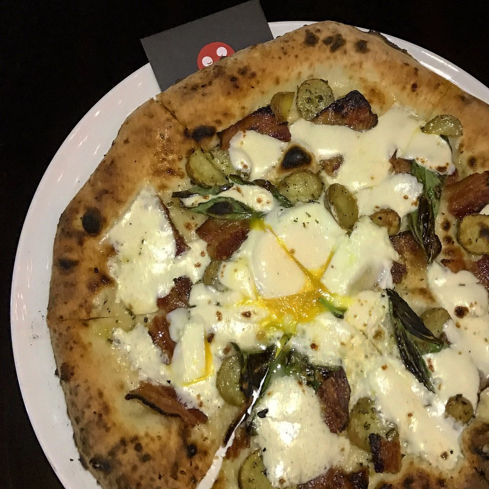 Egg Bacon Pizza from Midici Fort Lauderdale