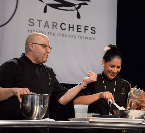 Chefs Antonio Bachour and Karina Rivera at StarChefs