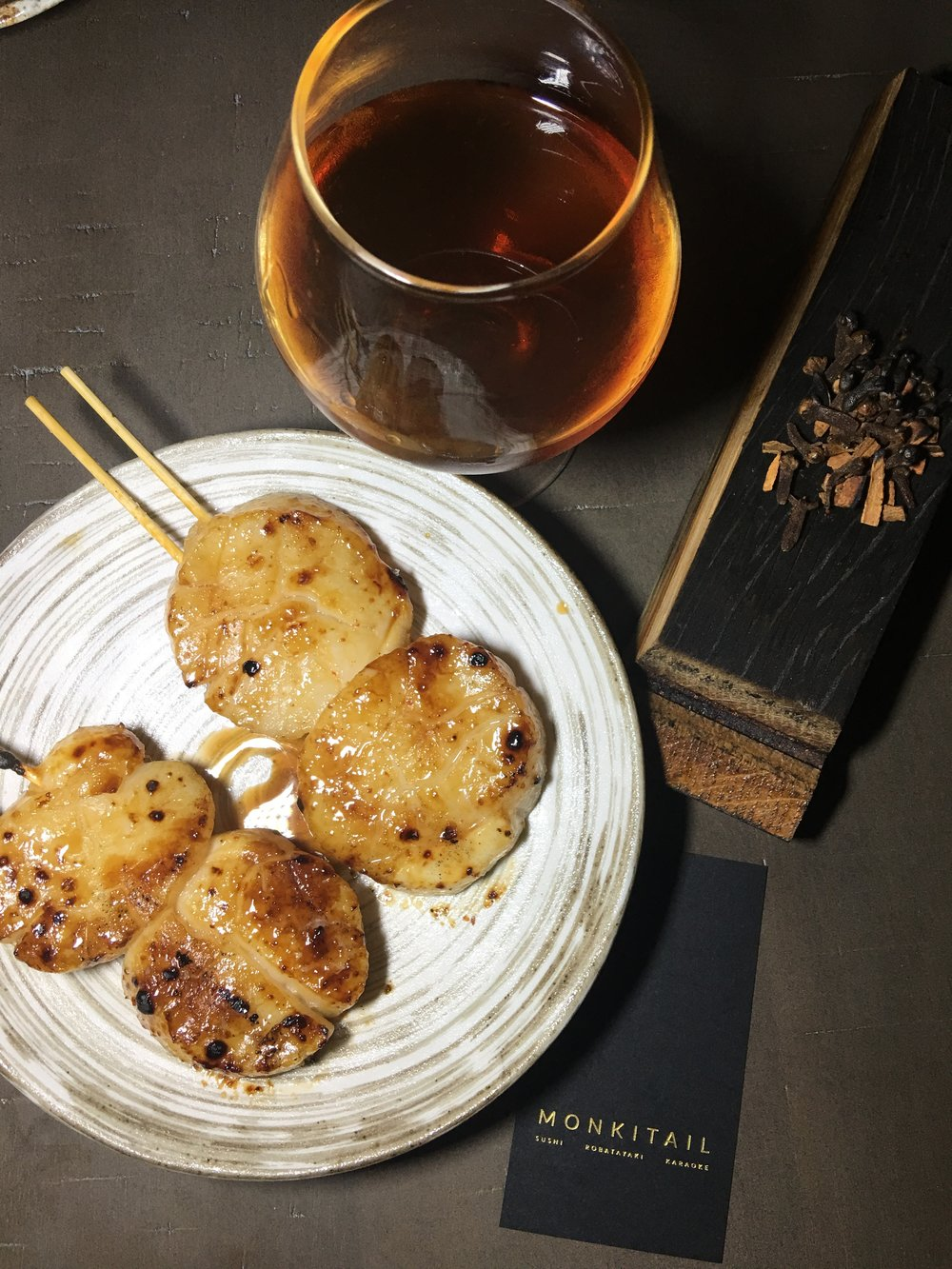 Monkitail Robata Scallops