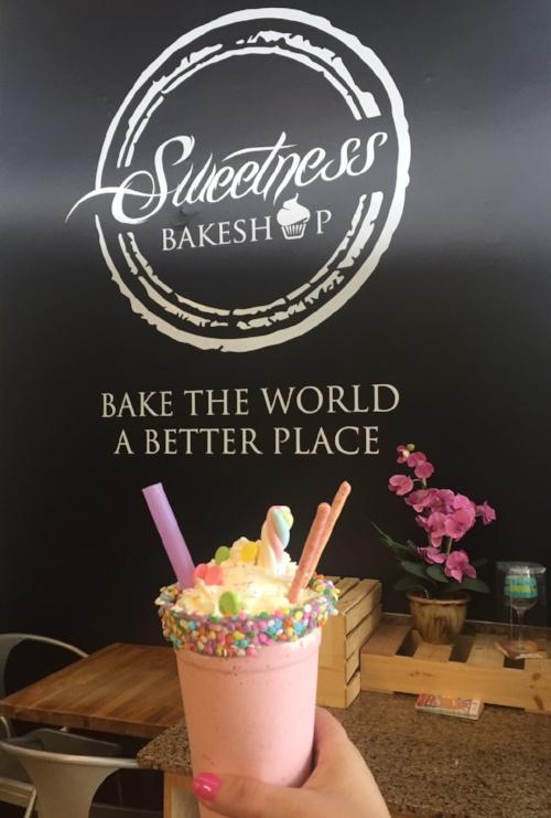 sweetness bakeshop milkshakes