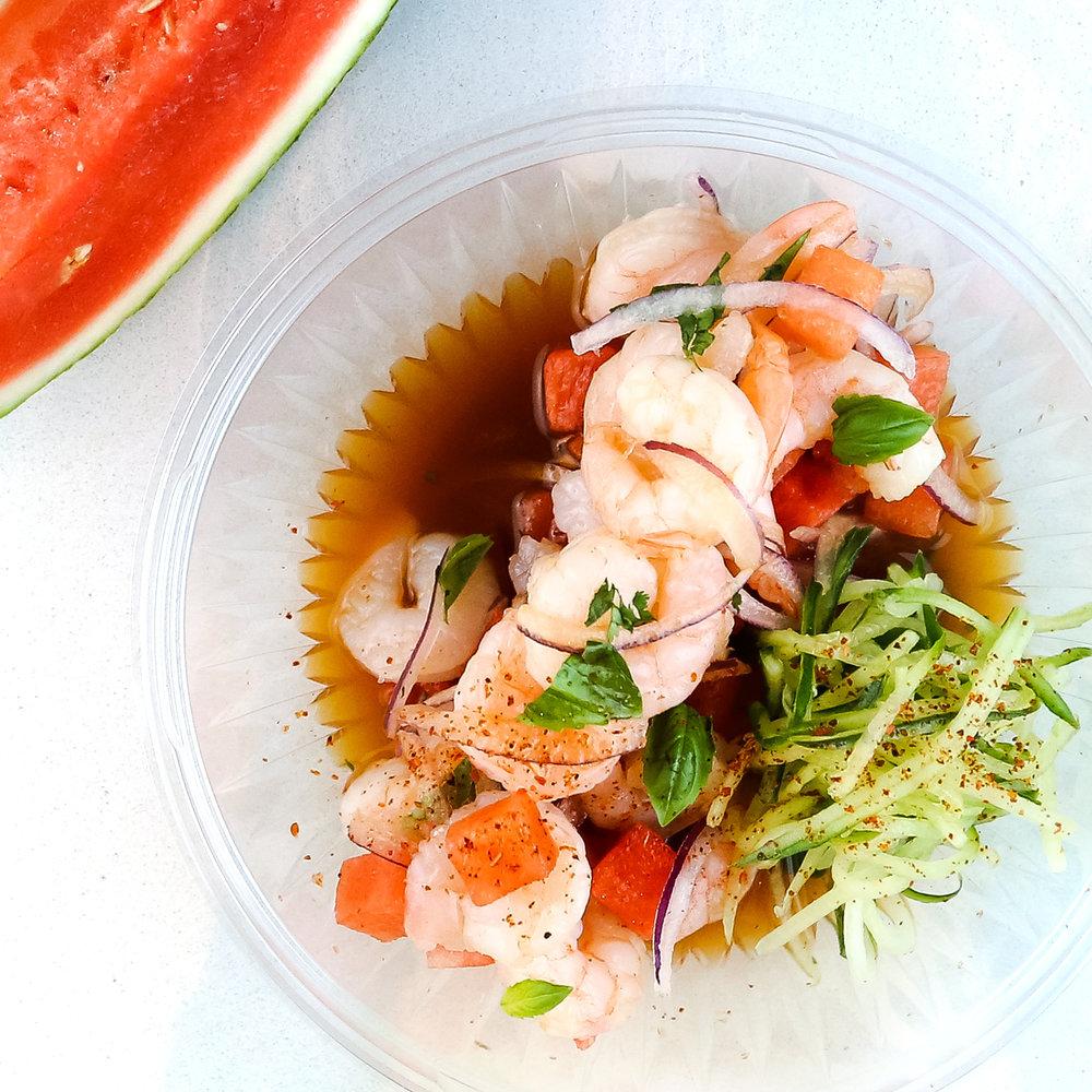 My Ceviche Shrimp and Watermelon Ceviche