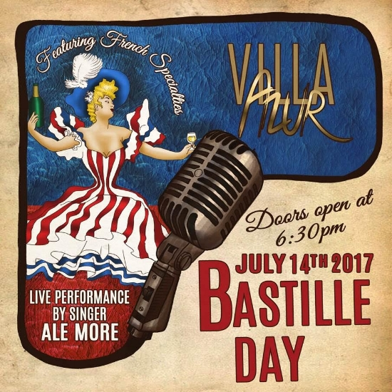 villa azur bastille day