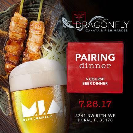 Dragonfly Izakaya MIA Brewing dinner
