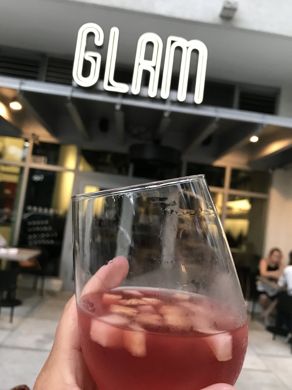 GLAM Vegan Miami sangria