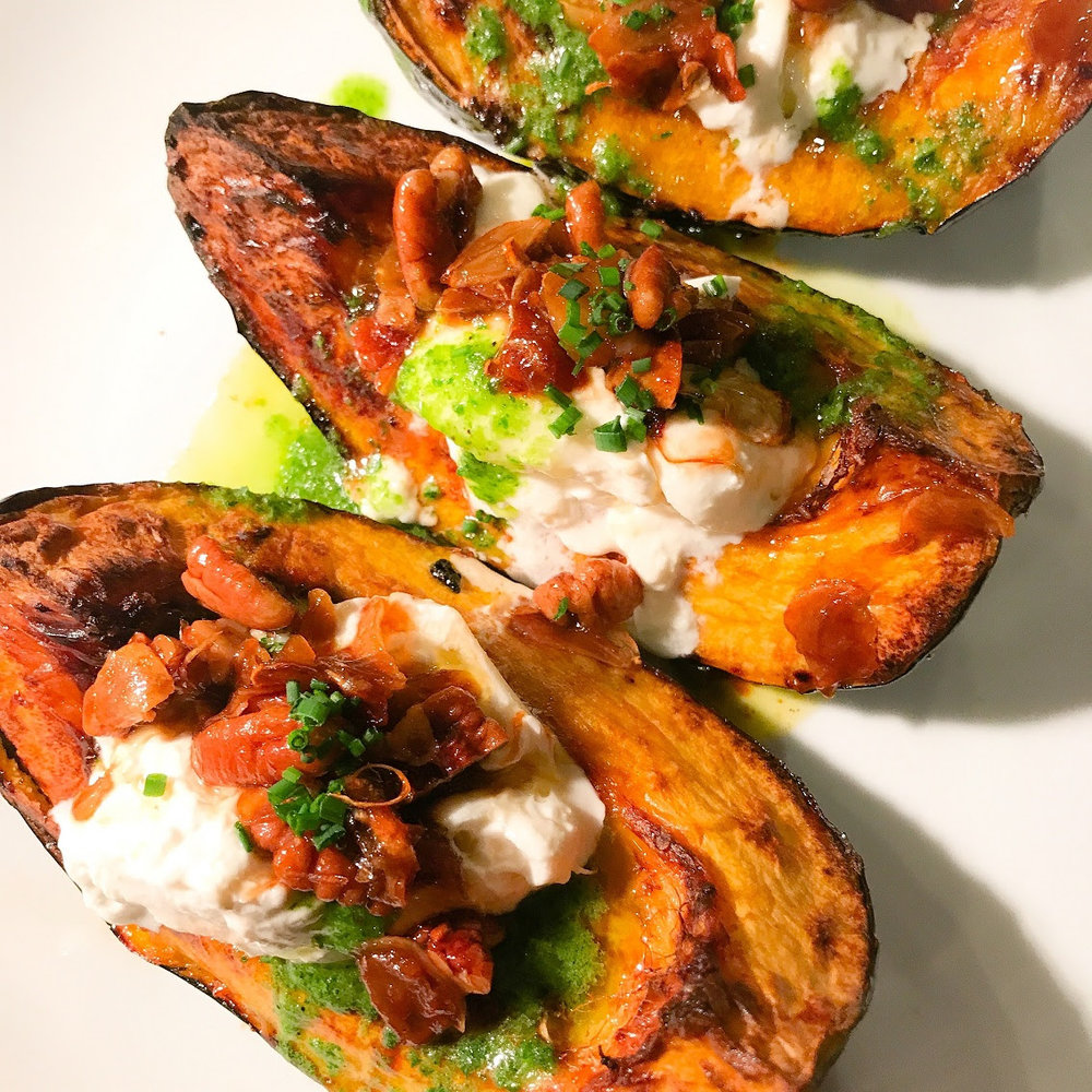 Roasted Acorn Squash by Chef Adrienne