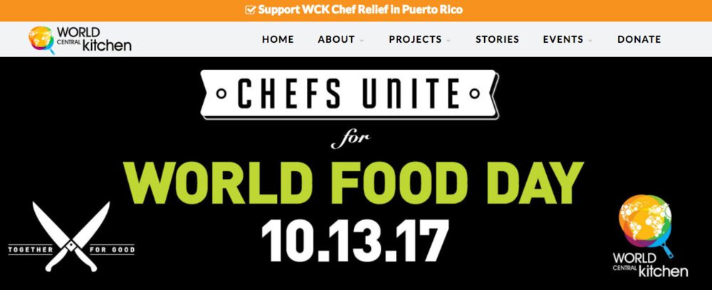 World Food Day October 13th Chefs Unite