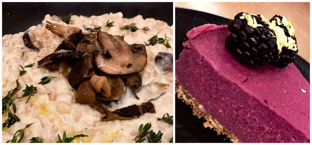 GLAM Vegan Risotto and Ube Pie