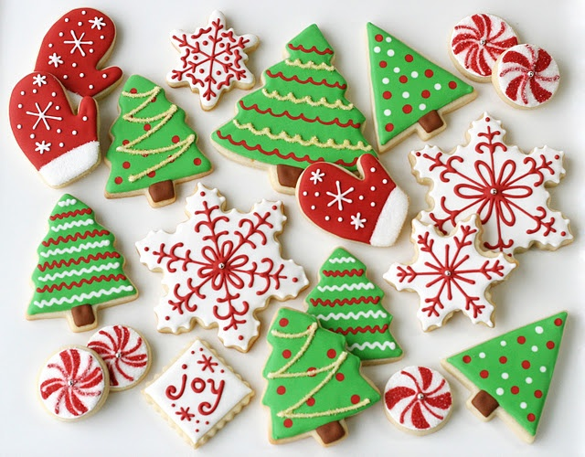 christmas tree sugar cookies 17jpg - Decorated Christmas Sugar Cookies