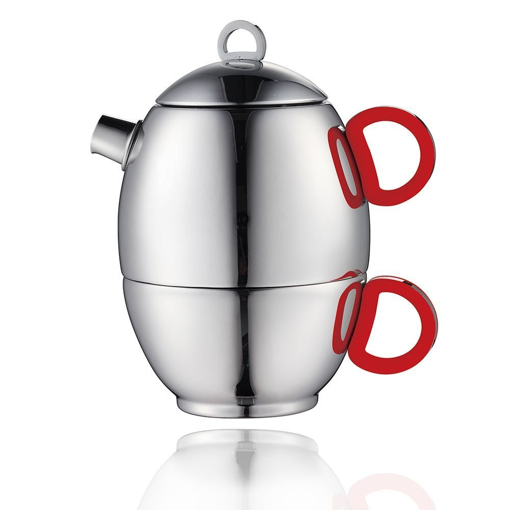 Minos Stainless Steel Tea Pot and Cup