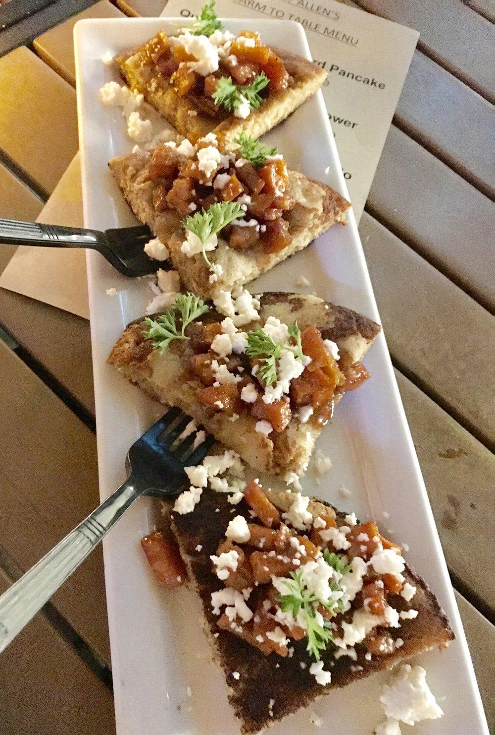 Quinoa pancake Chef Allen Susser Dinner