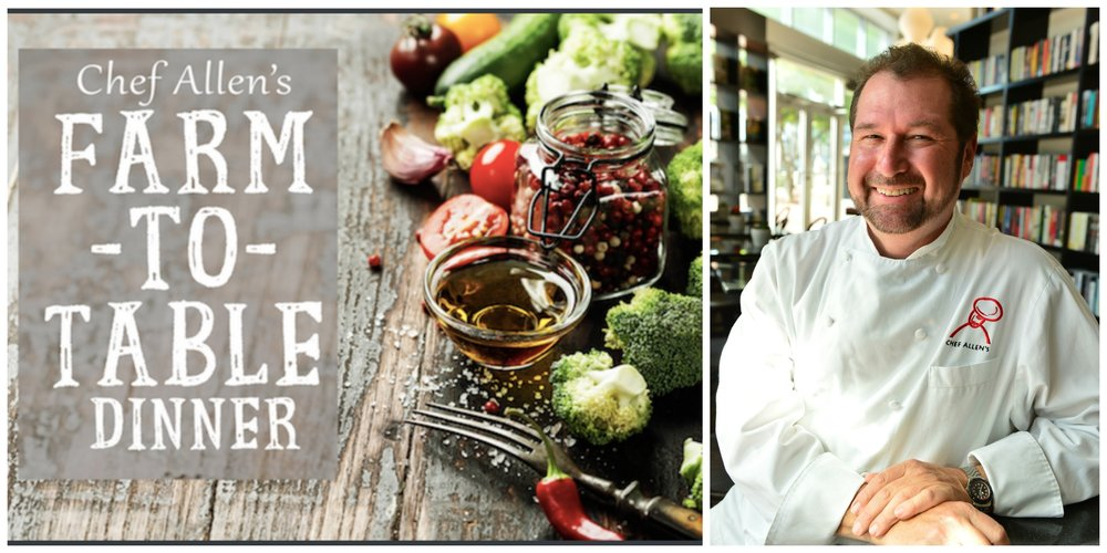 Books and Books Farm to Table dinners with Chef Allen Susser