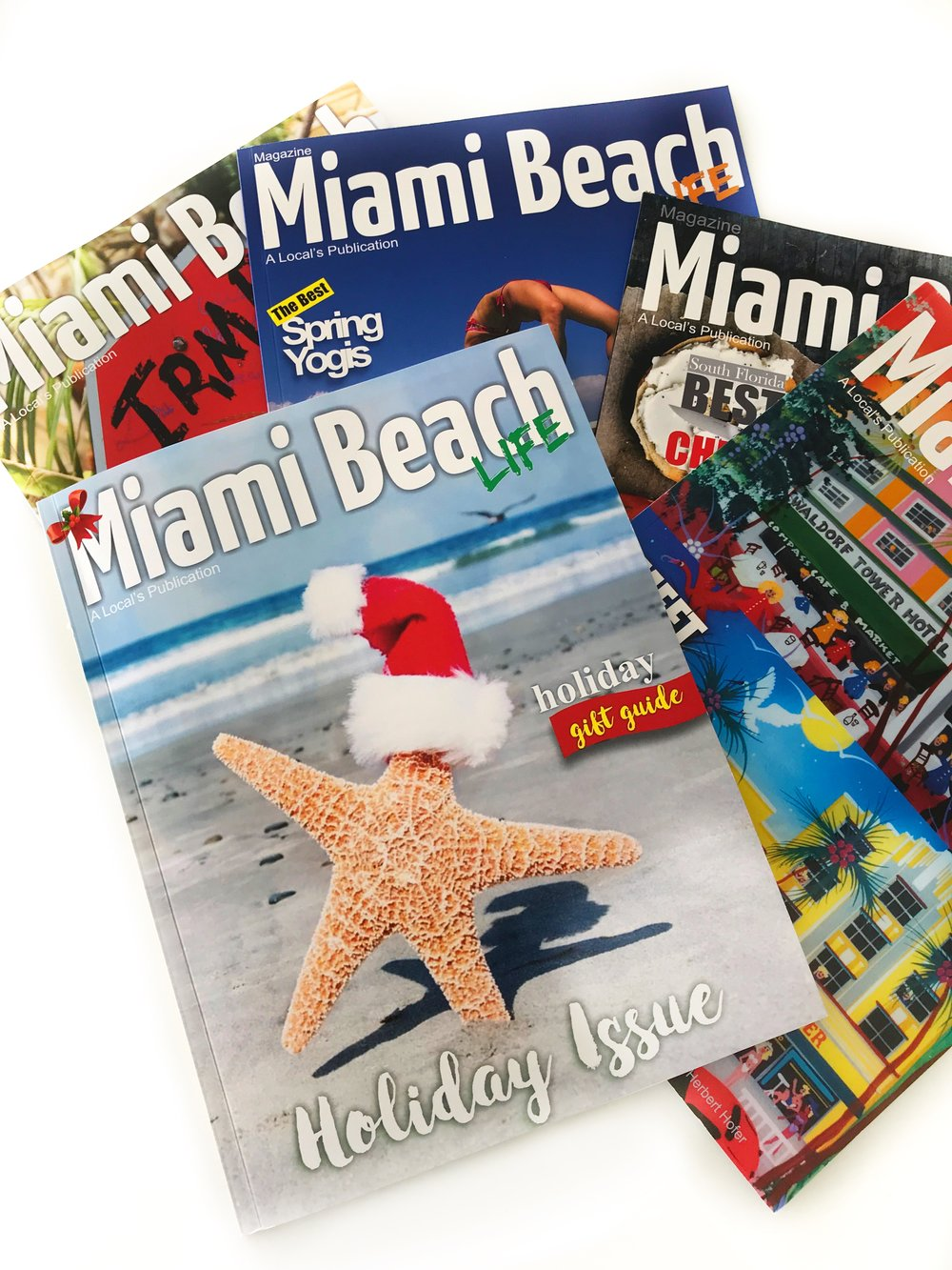 Miami Beach Life Magazine Cover Collage