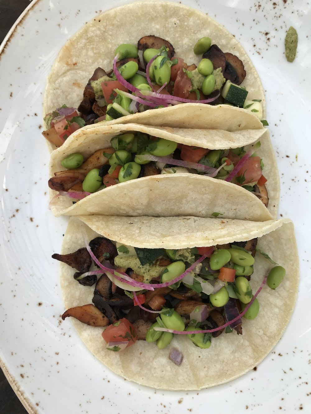 Soul Tavern Miami Beach Mushroom Tacos