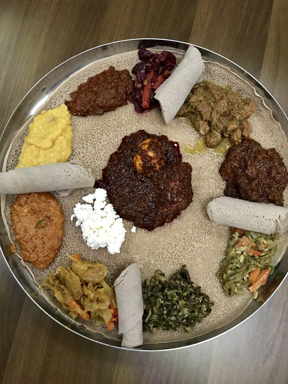 Awash Ethiopian Sampler of Tibs and Wet
