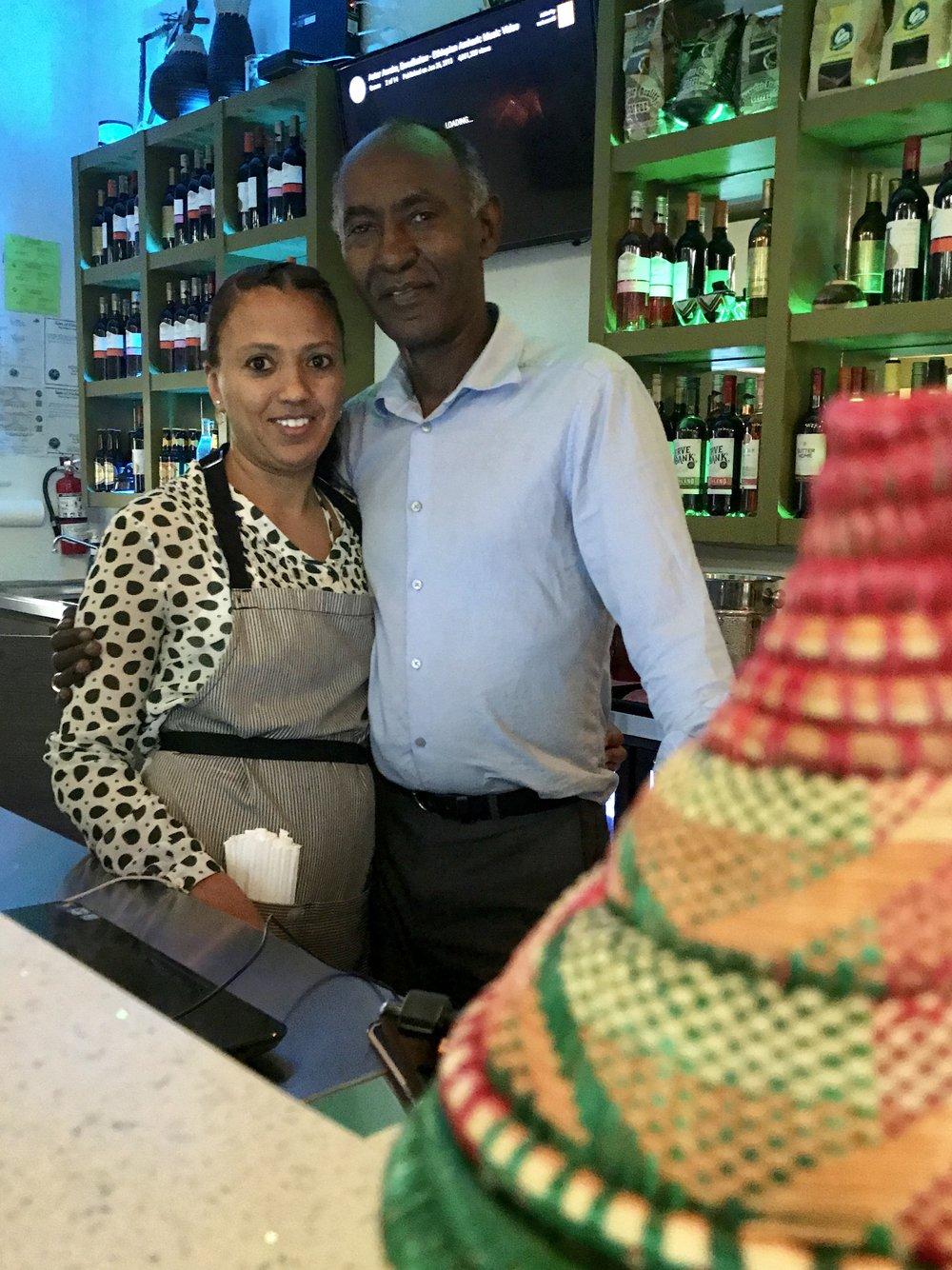 Awash Ethiopian owners Foaud and Eka Wassel