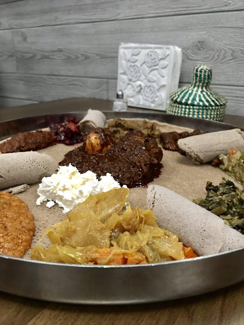 Awash Ethiopian Miami Sampler Platter