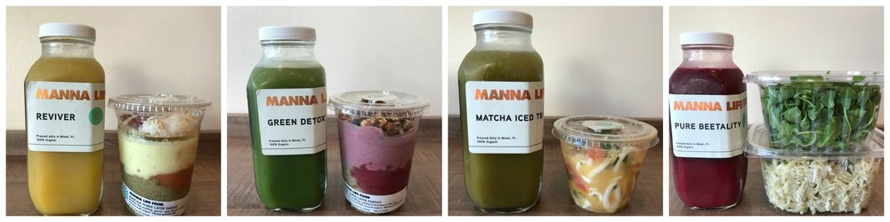 Manna Life Food Miami 2-day Vegan Cleanse options