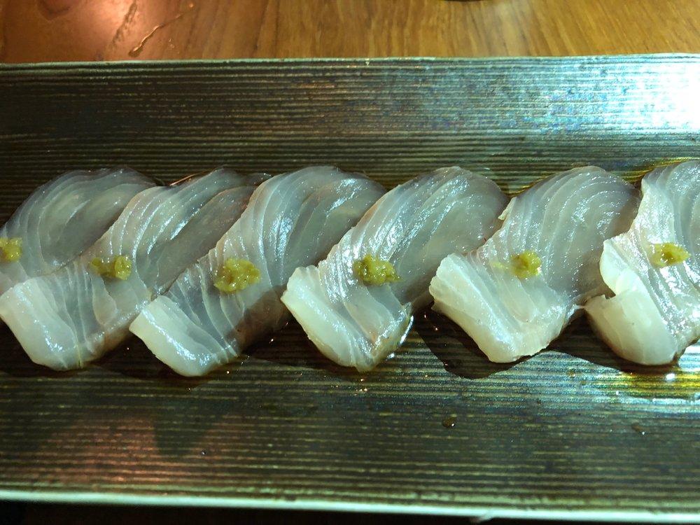 Blue Ribbon Sushi Amberjack Sashimi