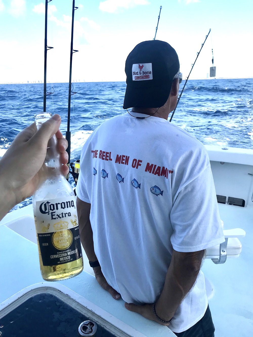 Reel Men of Miami Corona Beer