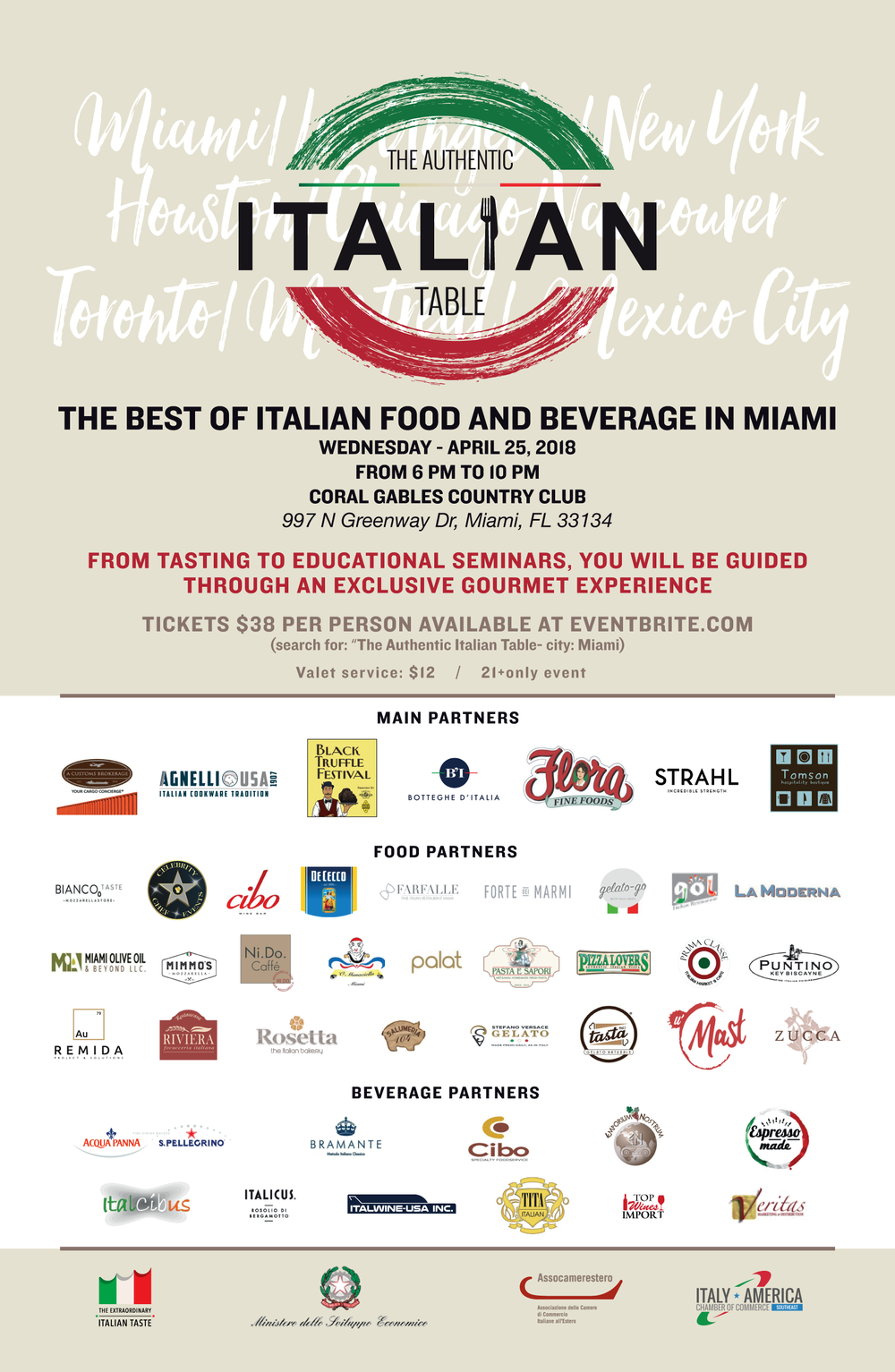 Itay-America Chamber of Commerce The Authentic Italian Table