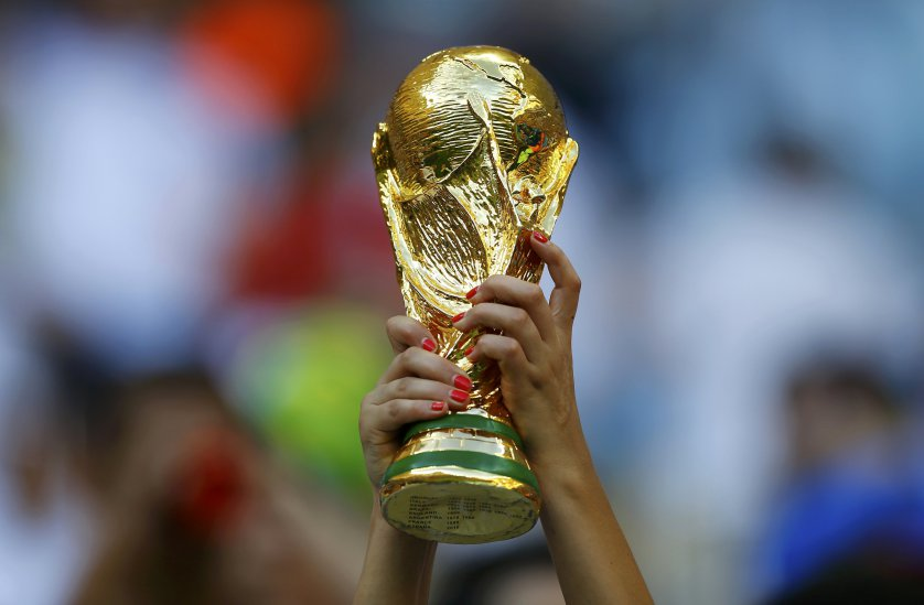 WORLD CUP FINALS TROPHY PIC IN STADIUM.JPG
