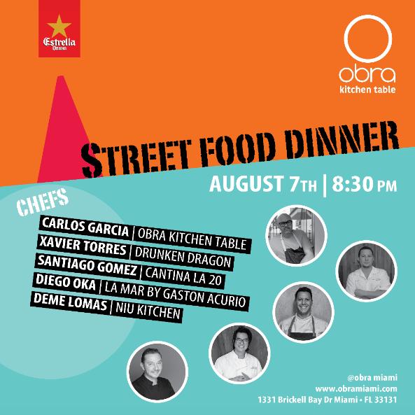 obra street food dinner