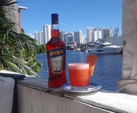 kiki on the river aperol spritz