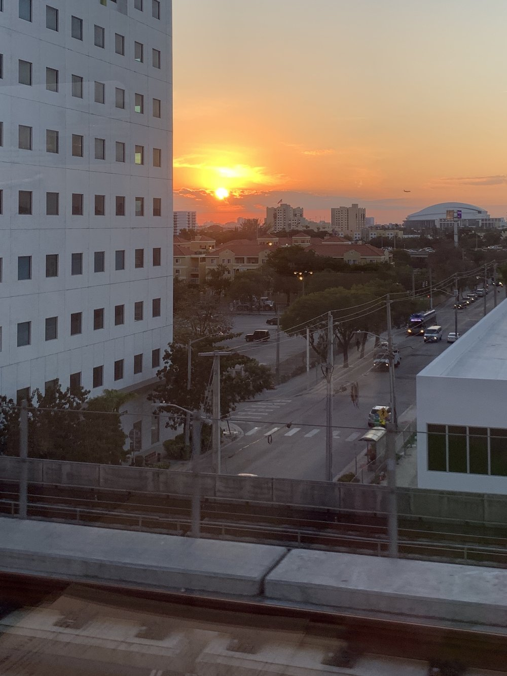 Brightline Miami Sunset