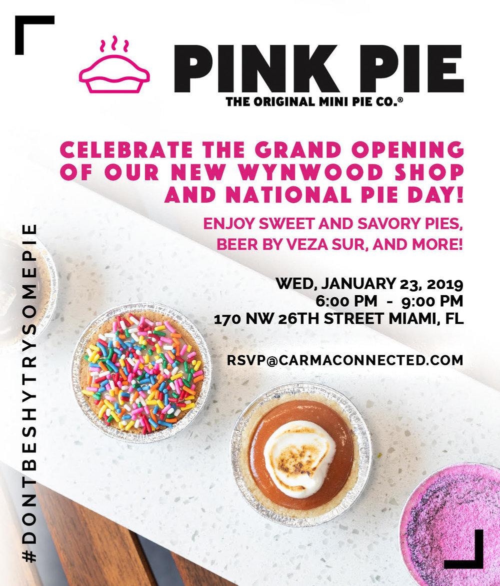 pink pie grand opening